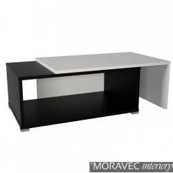 Konferenční rozkládací stolek DRON, černá-bílá